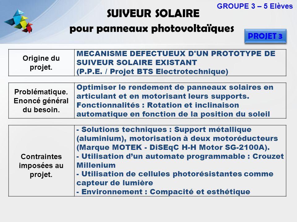 SUIVEUR SOLAIRE pour panneaux photovoltaïques