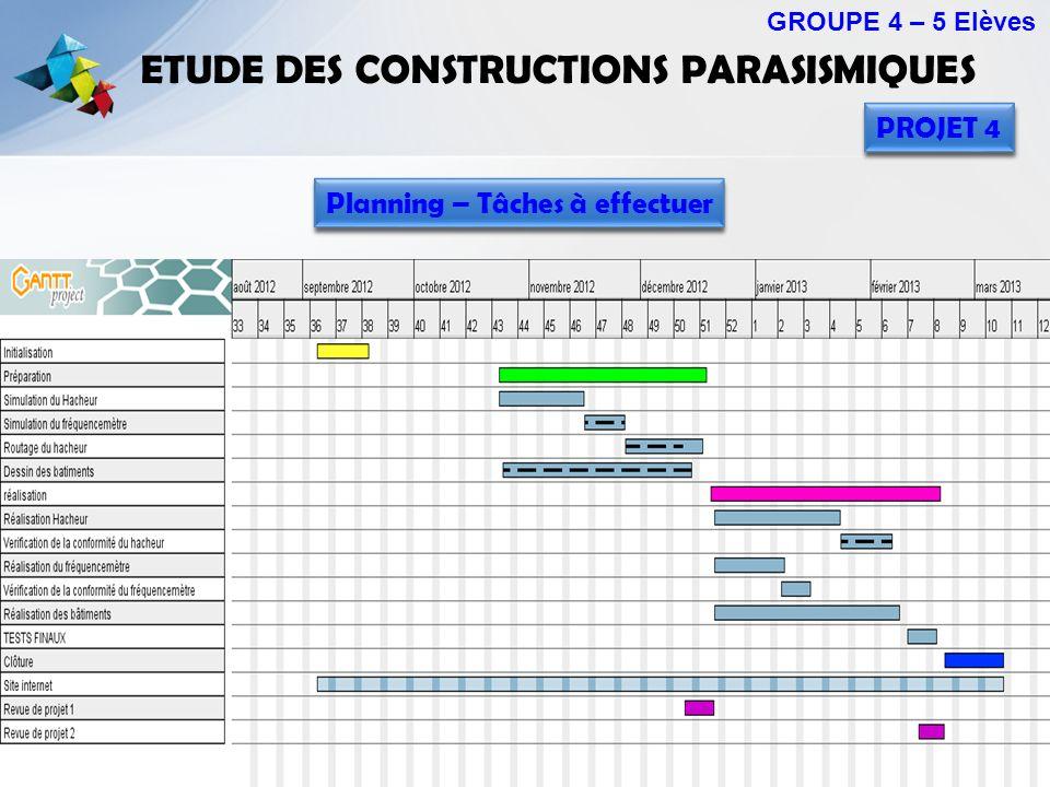 ETUDE DES CONSTRUCTIONS PARASISMIQUES