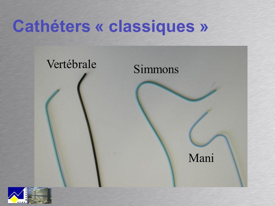 Cathéters « classiques »
