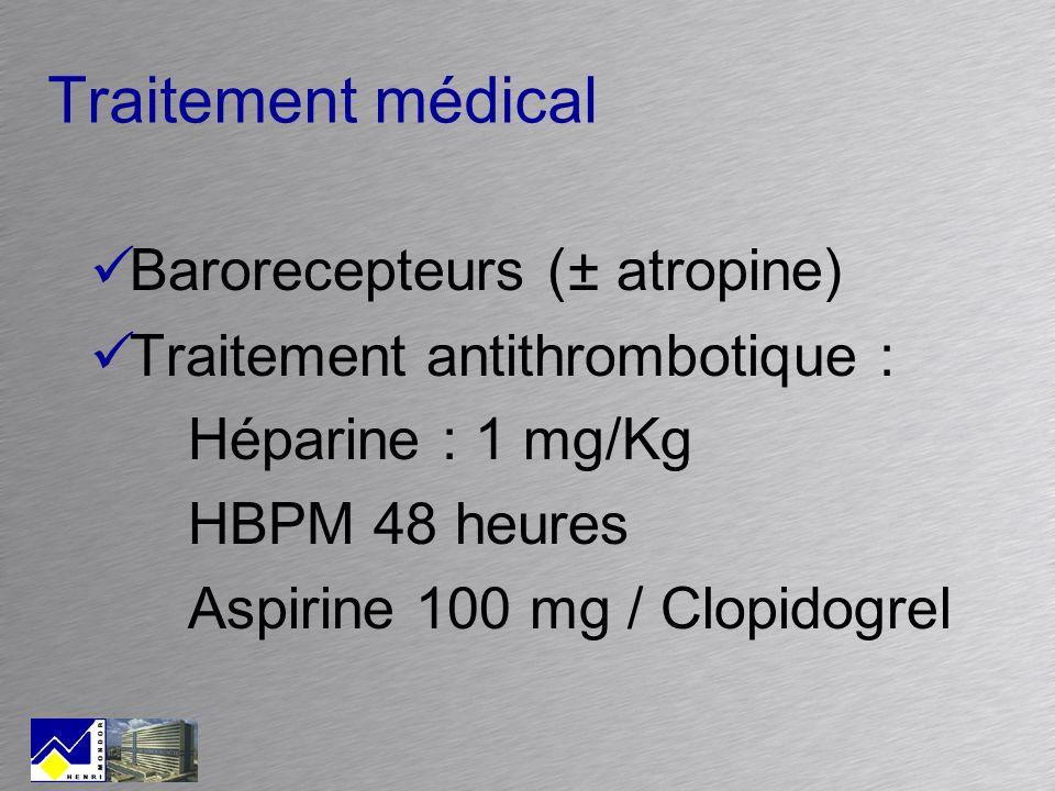 Traitement médical Barorecepteurs (± atropine)