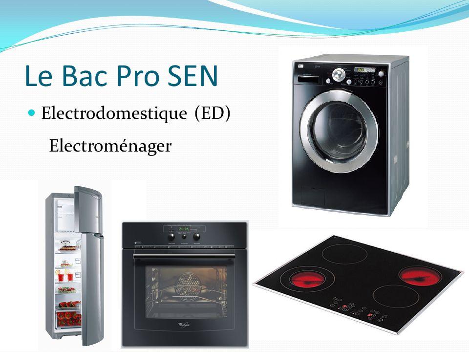 Le Bac Pro SEN Electrodomestique (ED) Electroménager