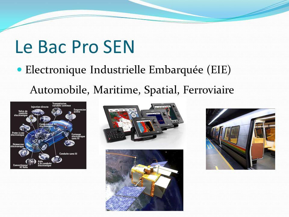 Le Bac Pro SEN Electronique Industrielle Embarquée (EIE)