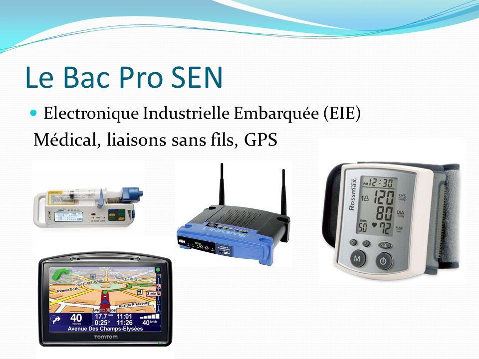 Le Bac Pro SEN Médical, liaisons sans fils, GPS
