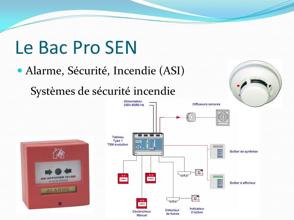 Le Bac Pro SEN Alarme, Sécurité, Incendie (ASI)