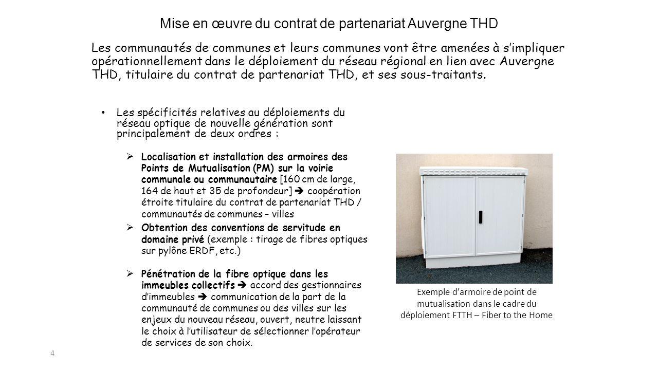 Mise en œuvre du contrat de partenariat Auvergne THD