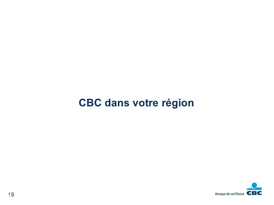 CBC dans votre région