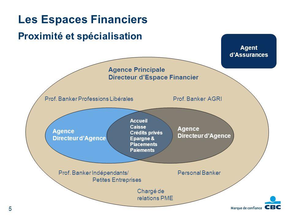 Les Espaces Financiers Proximité et spécialisation