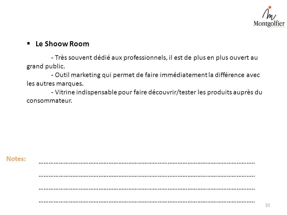 Le Shoow Room - Très souvent dédié aux professionnels, il est de plus en plus ouvert au grand public.