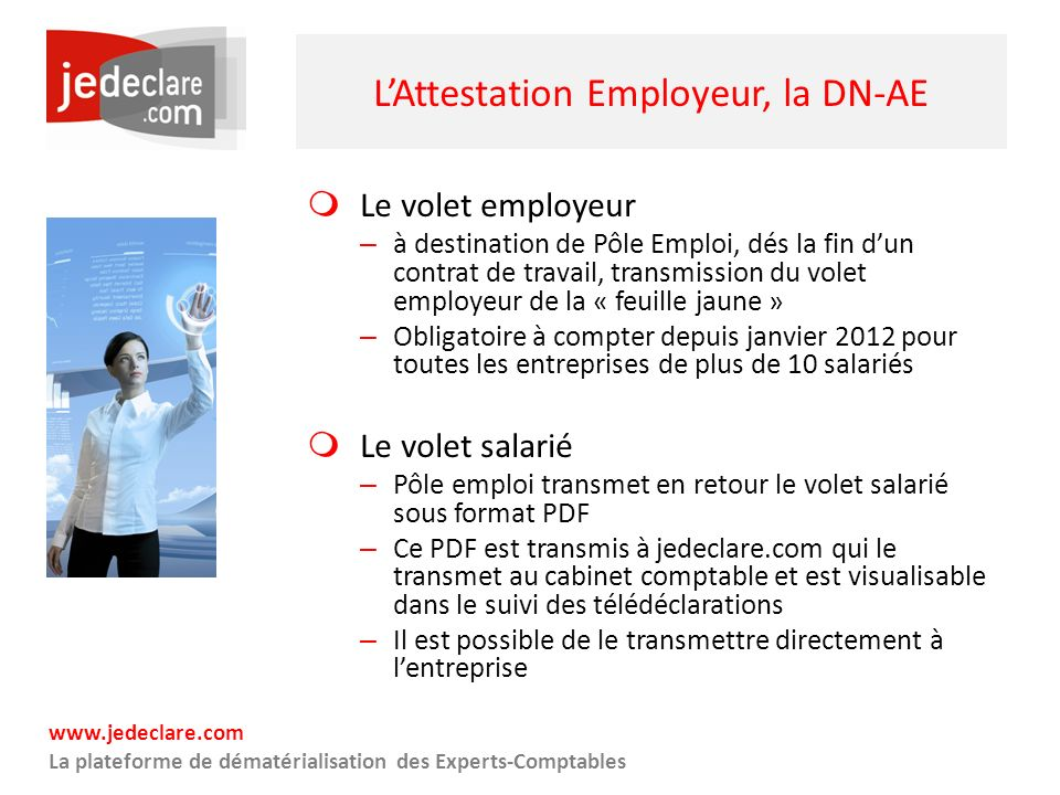 L'Attestation Employeur, la DN-AE