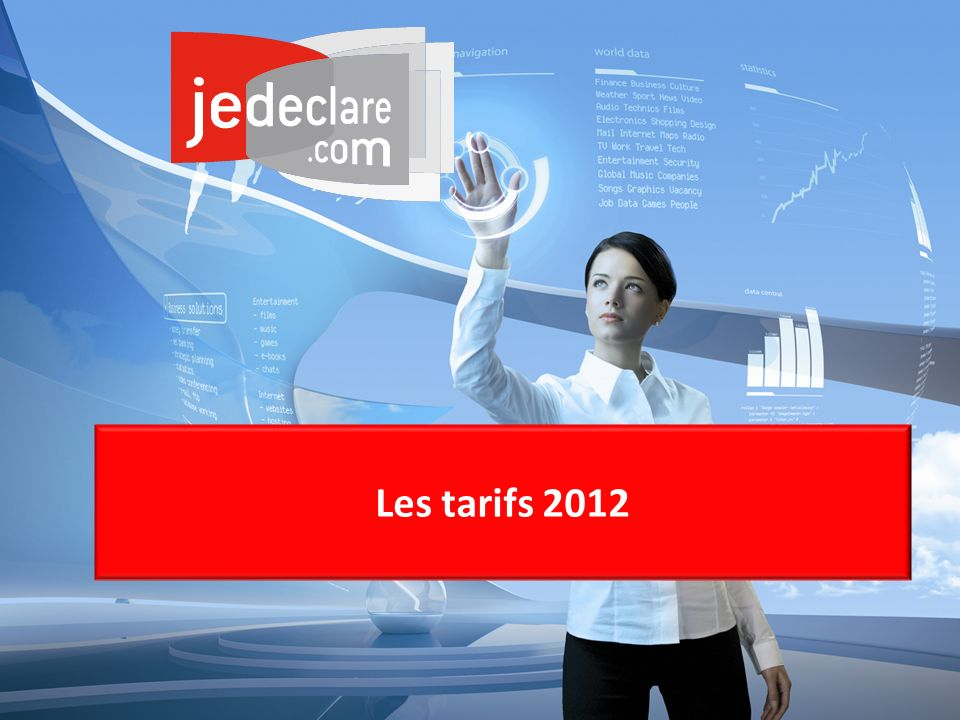 Les tarifs 2012