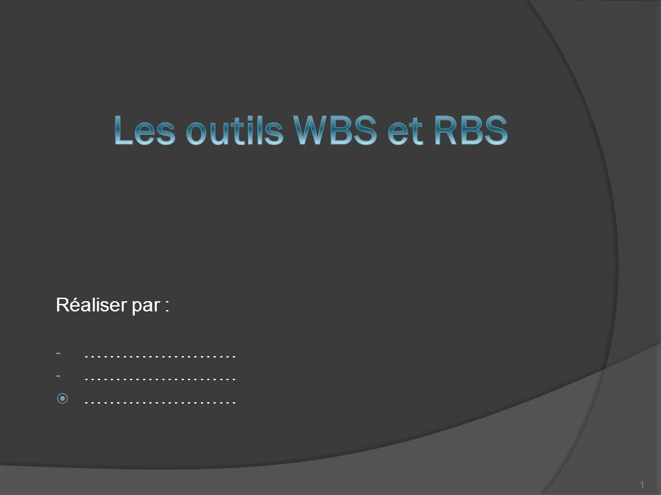 Les outils WBS et RBS Réaliser par : ……………………
