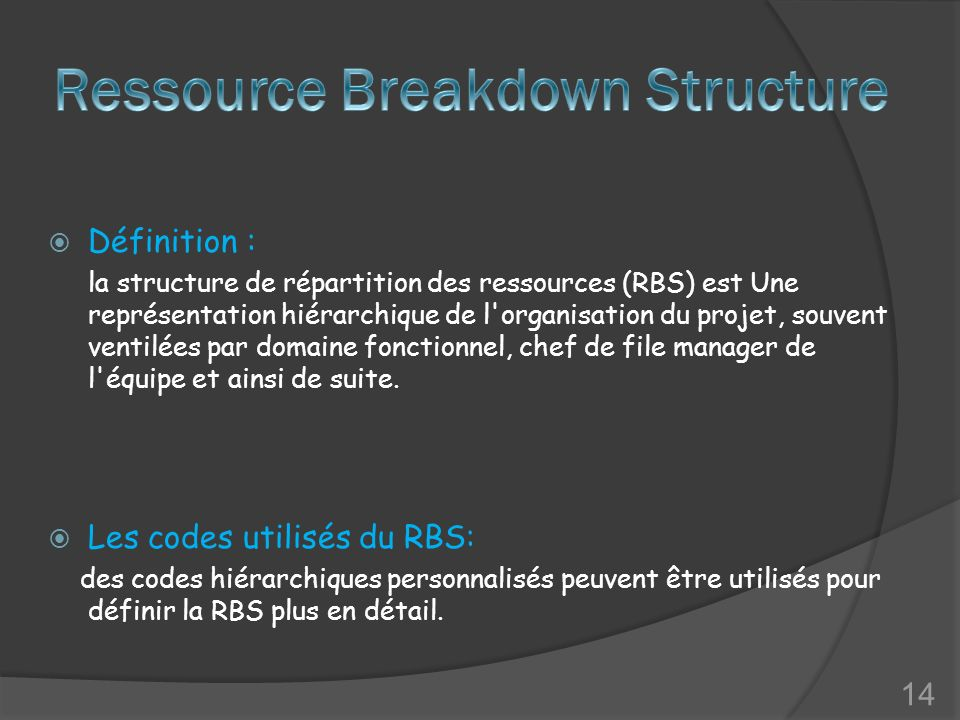 Ressource Breakdown Structure