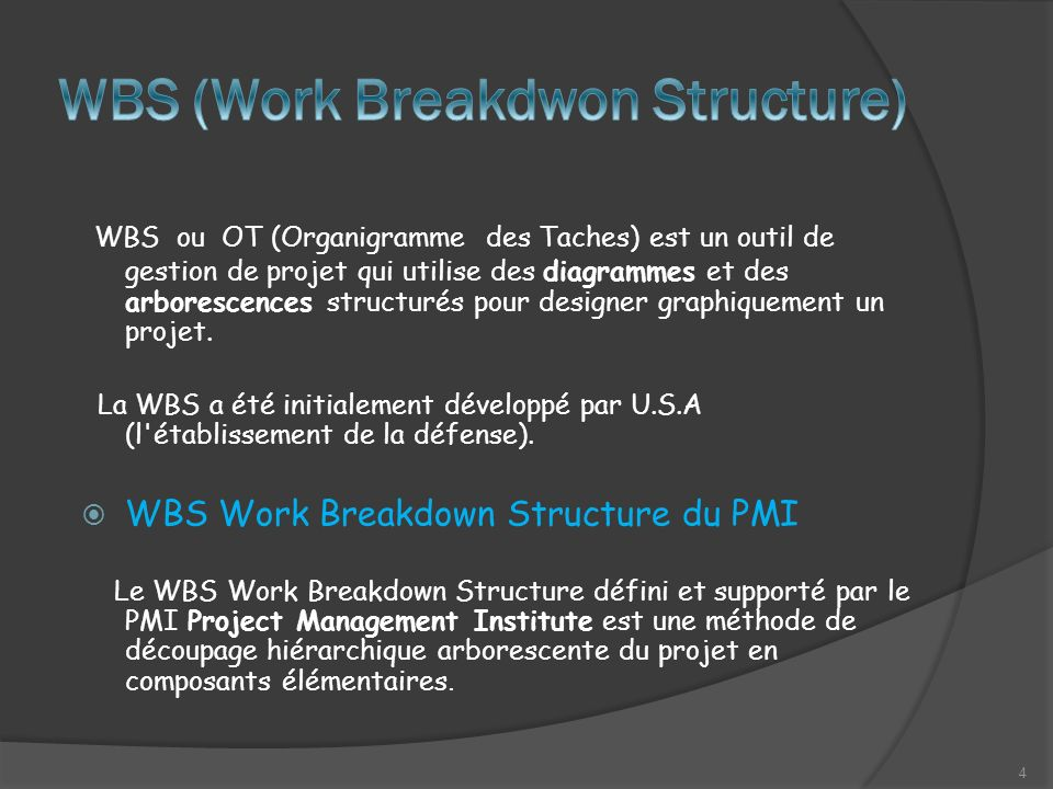 WBS (Work Breakdwon Structure)