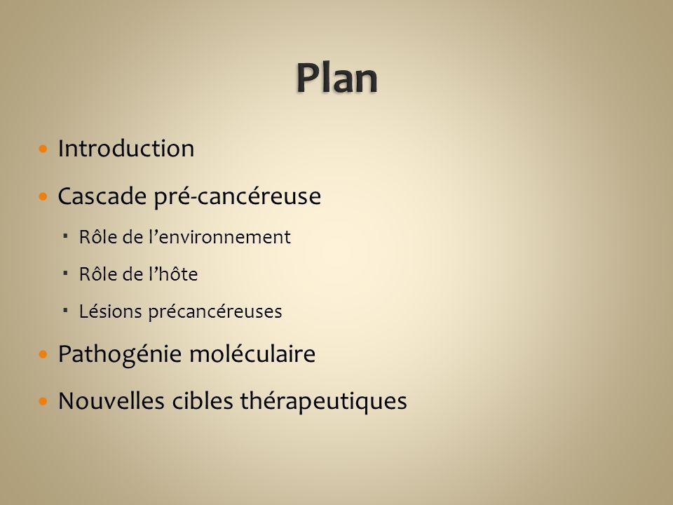 Plan Introduction Cascade pré-cancéreuse Pathogénie moléculaire