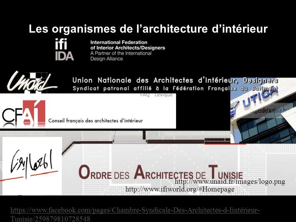 Les organismes de l'architecture d'intérieur