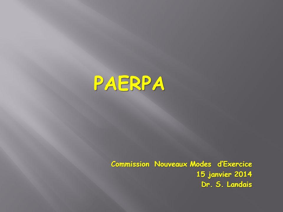 PAERPA Commission Nouveaux Modes d'Exercice 15 janvier 2014
