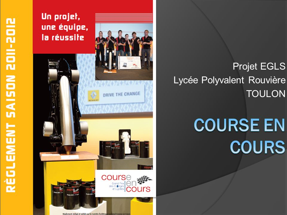 Projet EGLS Lycée Polyvalent Rouvière TOULON
