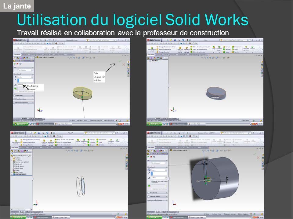 Utilisation du logiciel Solid Works