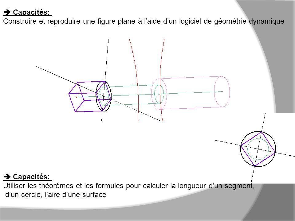  Capacités: Construire et reproduire une figure plane à l'aide d'un logiciel de géométrie dynamique.