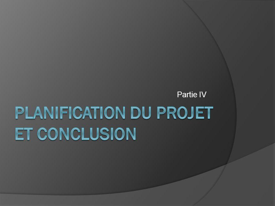 Planification du projet et CONCLUSION