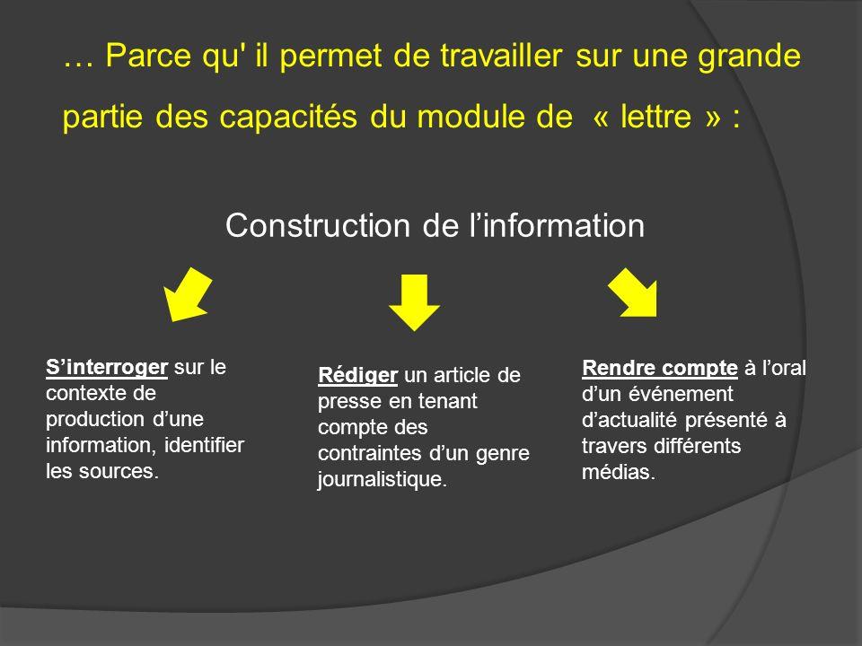 Construction de l'information