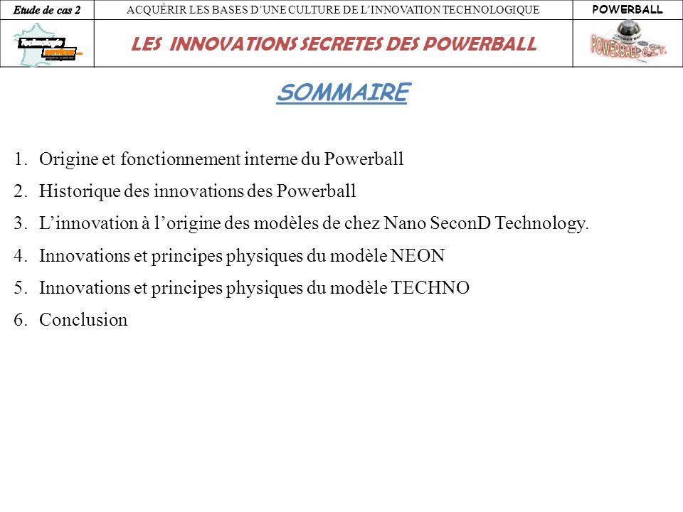 SOMMAIRE Origine et fonctionnement interne du Powerball