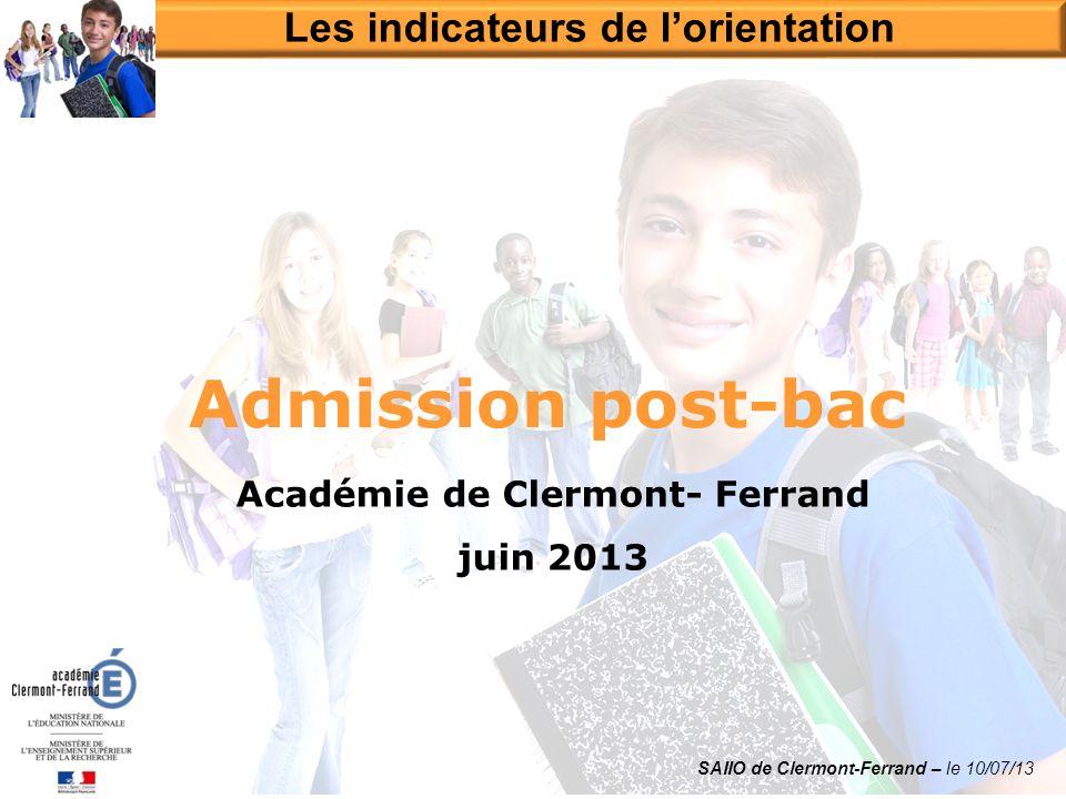 Les indicateurs de l'orientation Académie de Clermont- Ferrand