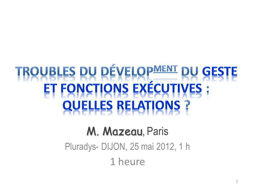 M. Mazeau, Paris Pluradys- DIJON, 25 mai 2012, 1 h 1 heure