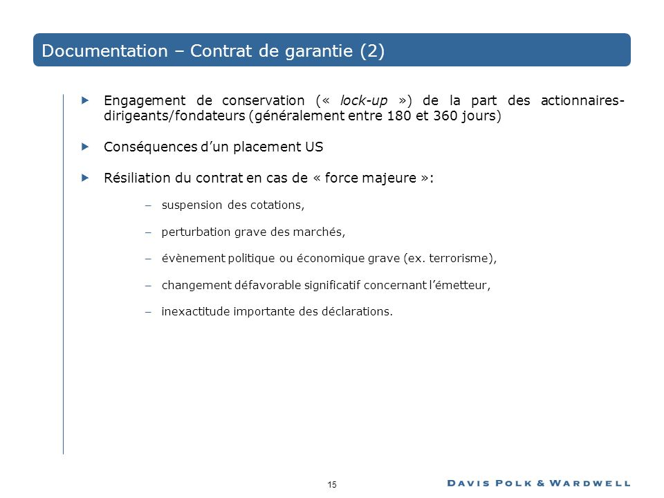 Documentation – Contrat de garantie (2)