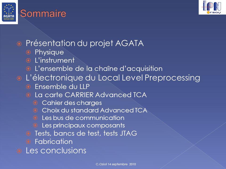 Sommaire Présentation du projet AGATA