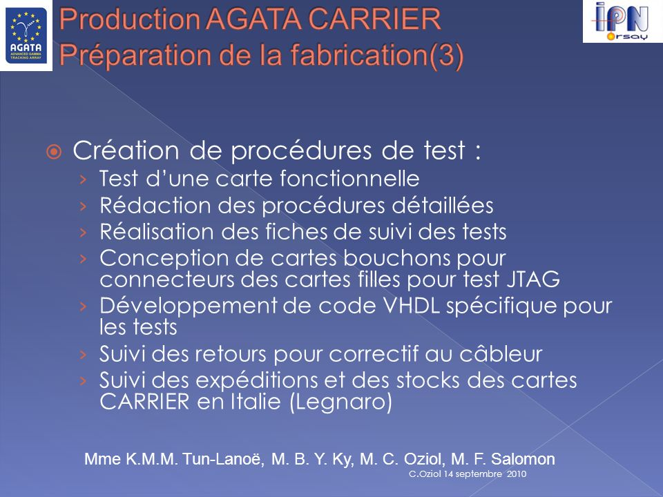 Production AGATA CARRIER Préparation de la fabrication(3)