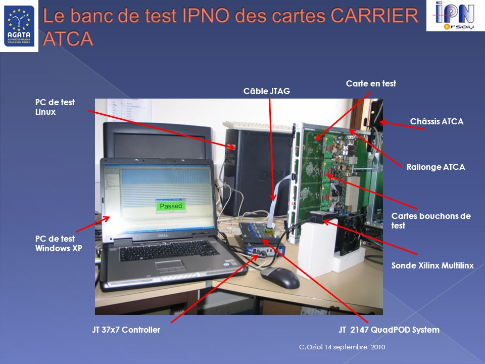 Le banc de test IPNO des cartes CARRIER ATCA