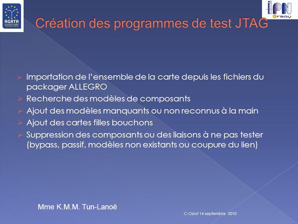 Création des programmes de test JTAG