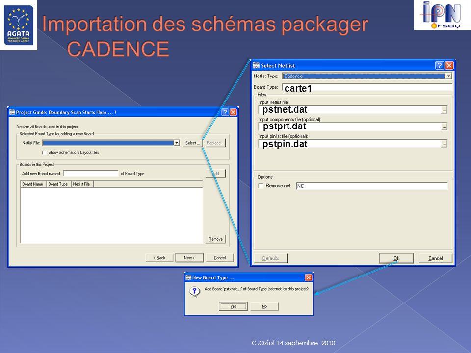 Importation des schémas packager CADENCE