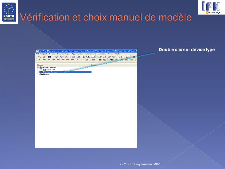 Vérification et choix manuel de modèle