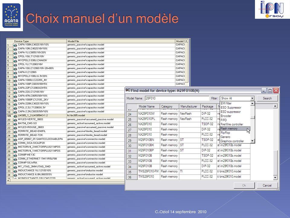 Choix manuel d'un modèle