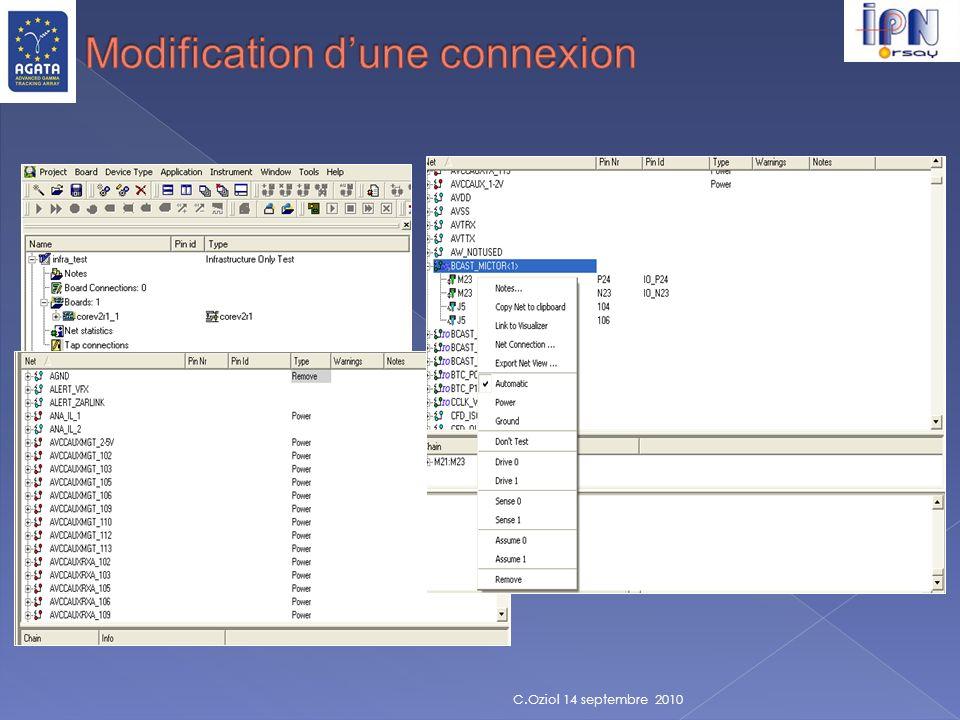 Modification d'une connexion