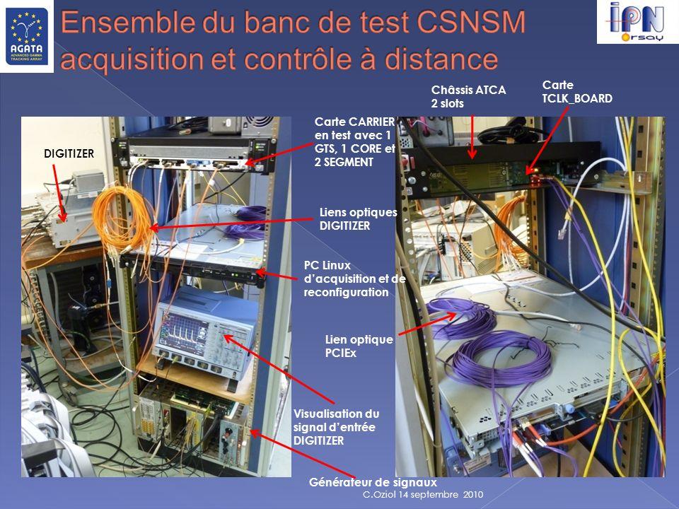 Ensemble du banc de test CSNSM acquisition et contrôle à distance