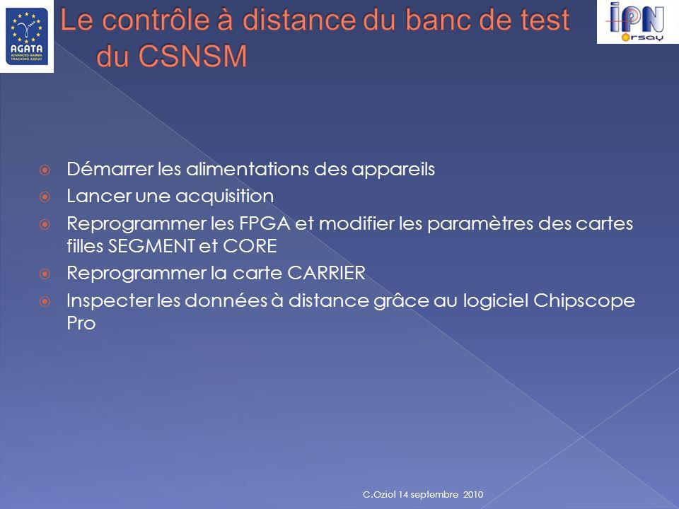 Le contrôle à distance du banc de test du CSNSM