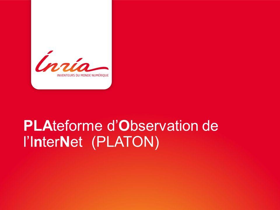PLAteforme d'Observation de l'InterNet (PLATON)