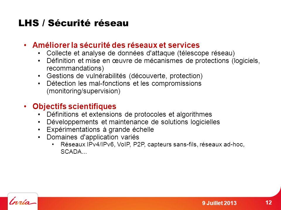 LHS / Sécurité réseau Améliorer la sécurité des réseaux et services
