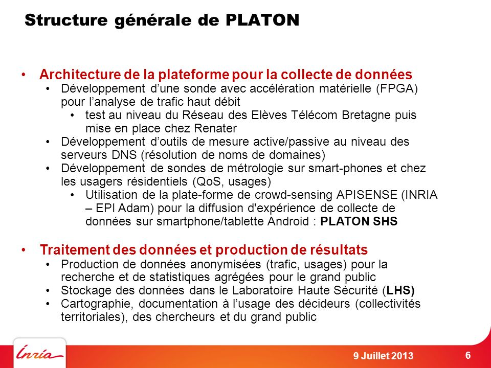 Structure générale de PLATON