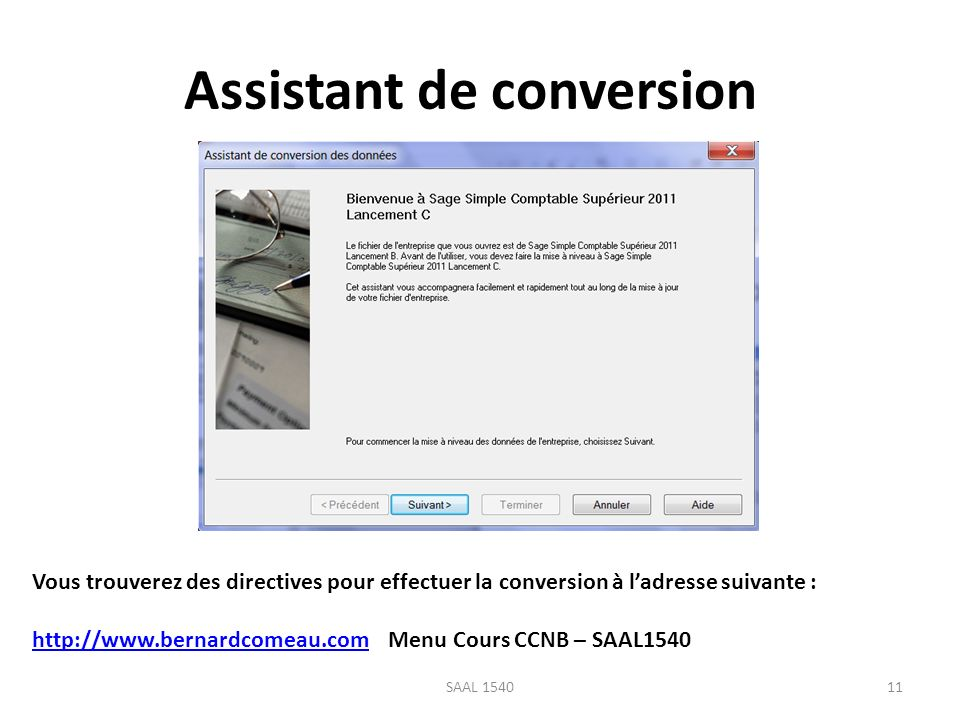 Assistant de conversion