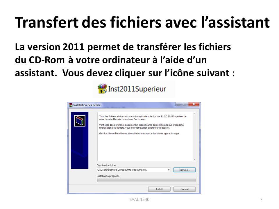 Transfert des fichiers avec l'assistant