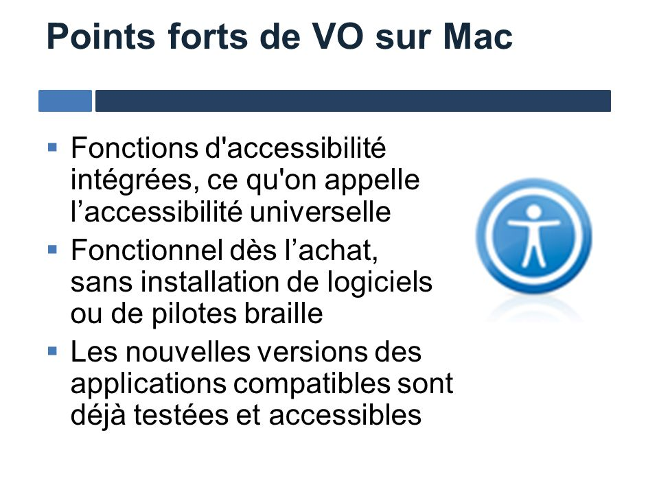 Points forts de VO sur Mac