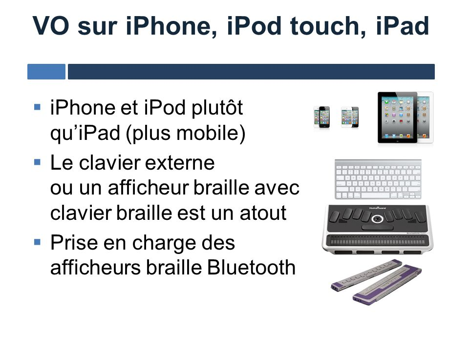 VO sur iPhone, iPod touch, iPad