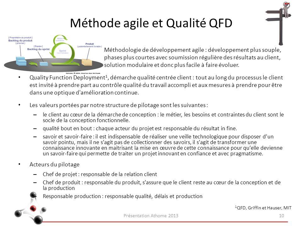 Méthode agile et Qualité QFD