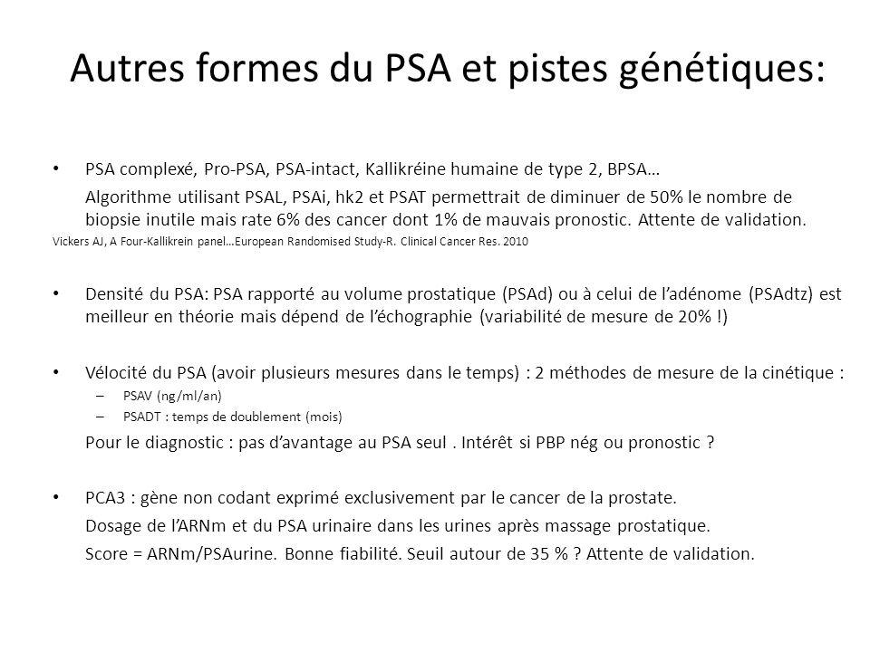 Autres formes du PSA et pistes génétiques: