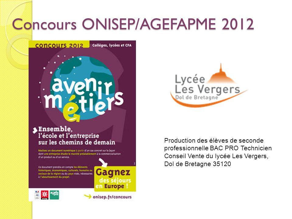 Concours ONISEP/AGEFAPME 2012