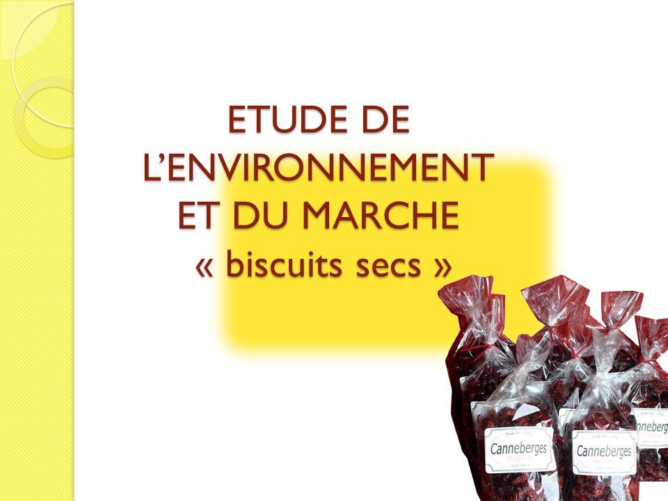 ETUDE DE L'ENVIRONNEMENT ET DU MARCHE « biscuits secs »